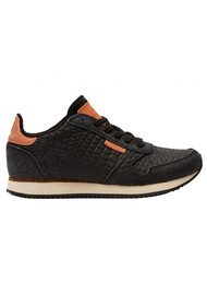 WODEN Ydun Croco Trainers - Black