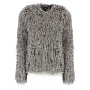 Dream Faux Fur Jacket - Charcoal