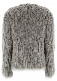 Unreal Fur Dream Faux Fur Jacket - Charcoal