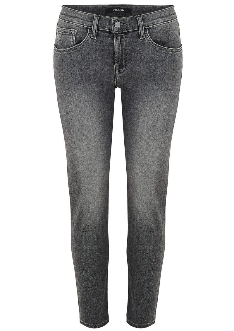 J Brand Sadey Mid Rise Slim Straight Jeans - Earl Grey main image