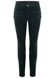 J Brand Zion Mid Rise Velvet Skinny Jeans - Moorland