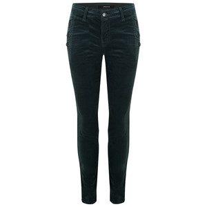 Zion Mid Rise Velvet Skinny Jeans - Moorland