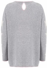 COCOA CASHMERE Star Lurex Cashmere Sweater - Grey