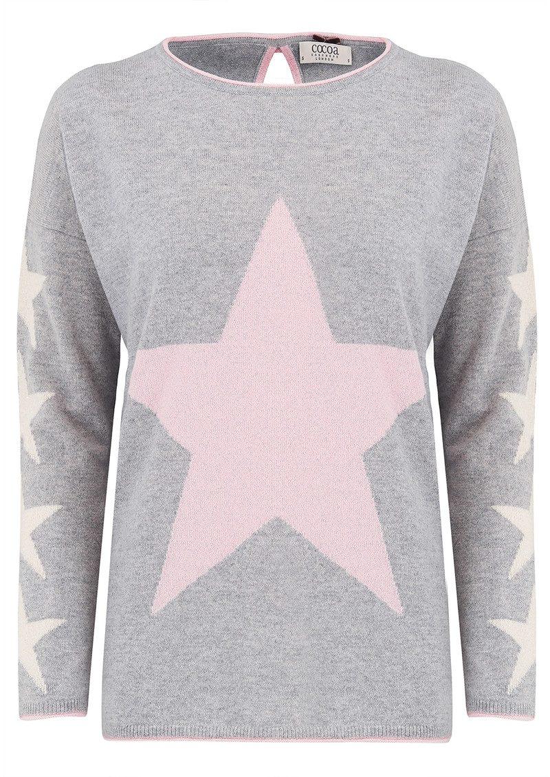 9b87785b36 COCOA CASHMERE Star Lurex Cashmere Sweater - Grey main image ...