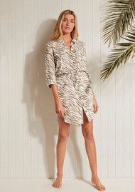 HEIDI KLEIN Kalahari Rounded Hem Shirt Dress - Print