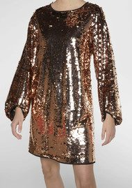 Twist and Tango Darcy Sequined Dress - Bronze