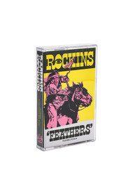 ROCKINS Super Skinny Silk Scarf - Feathers Ivory
