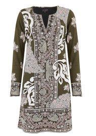 Hale Bob Long Sleeve Printed Dress - Olive