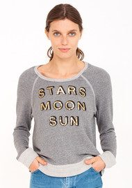 SUNDRY Stars, Moon and Sun Sweater - Grey
