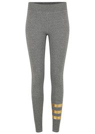 SUNDRY Foil Stripes Yoga Pants - Grey