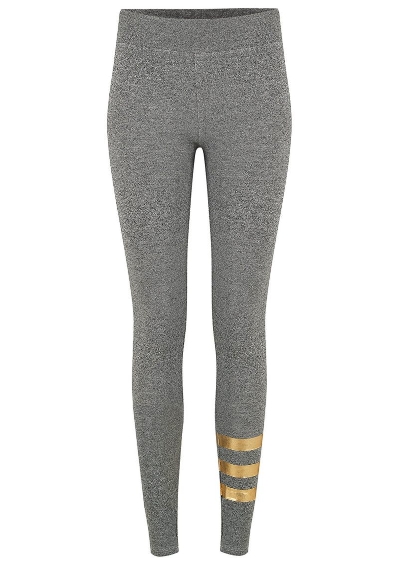 a8709fc8c4 Foil Stripes Yoga Pants - Grey main image