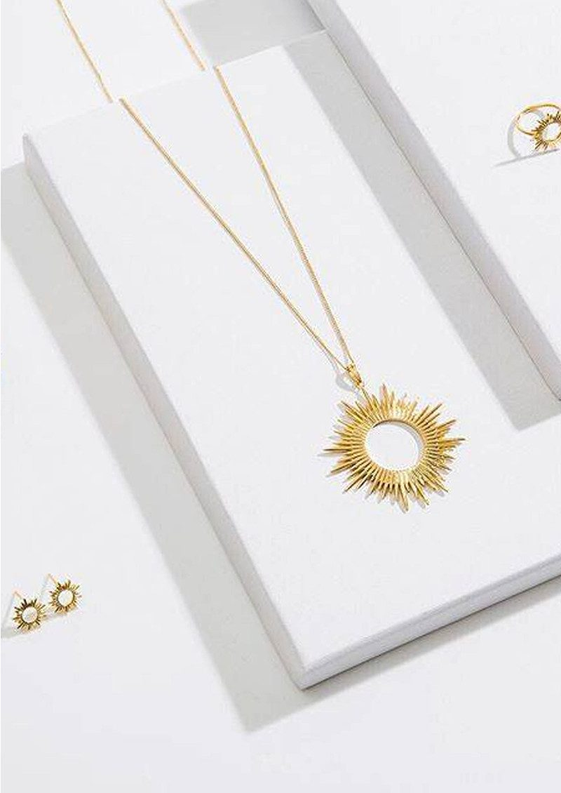 Sunrays Long Necklace - Gold main image