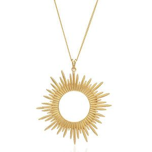 Sunrays Long Necklace - Gold