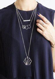 RACHEL JACKSON 3 Hexagon Necklace - Silver