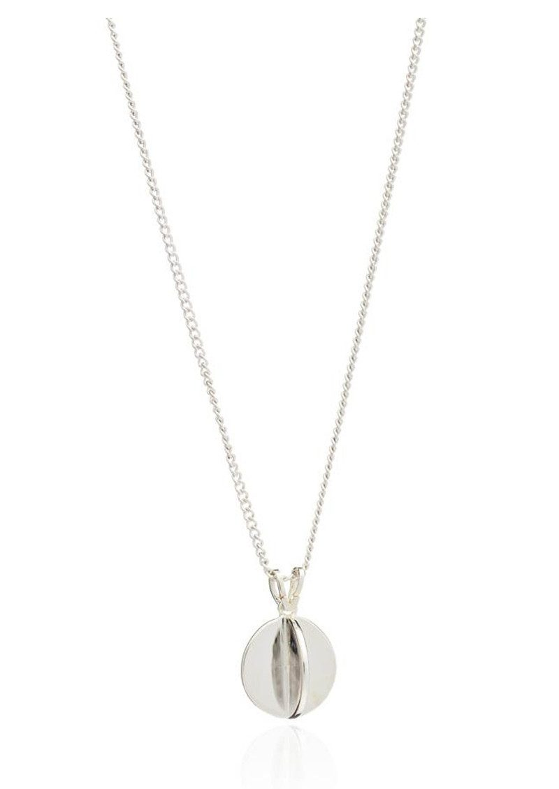 Moon Orb Pendant Necklace - Silver main image