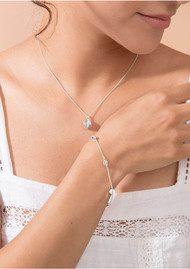 RACHEL JACKSON Moon Orb Pendant Necklace - Silver