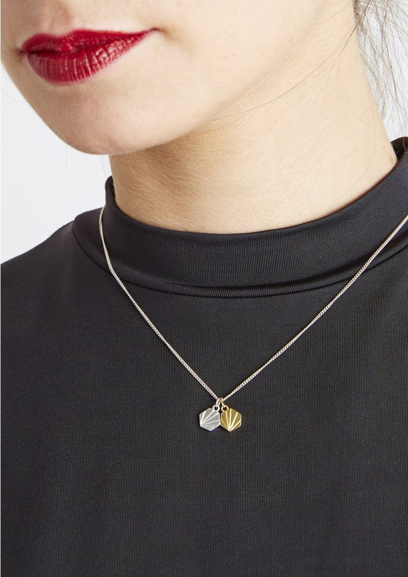 RACHEL JACKSON Good Vibes Hexagon Necklace - Serenity main image
