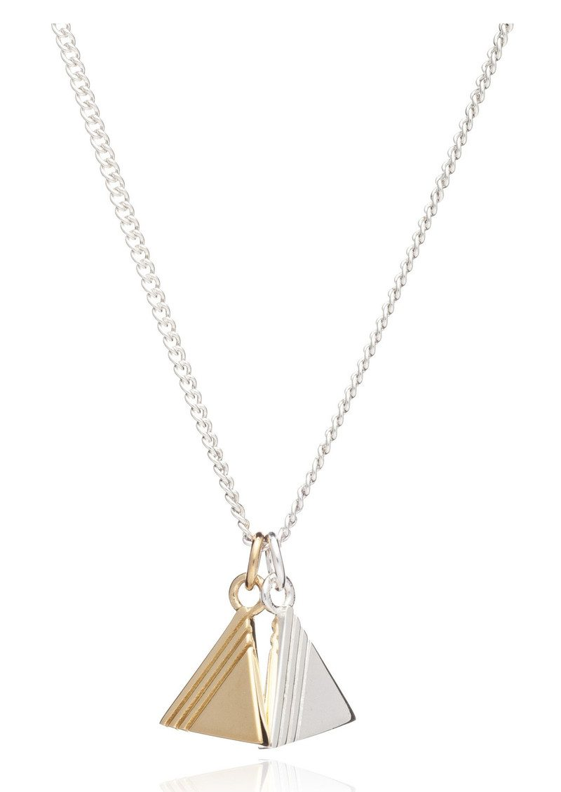 Good Vibes Triangle Necklace - Balance main image