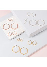 RACHEL JACKSON Serenity Mini Hexagon Hoop Earrings - Gold