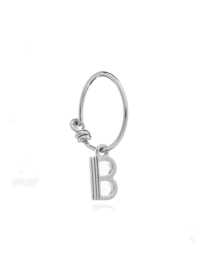 RACHEL JACKSON This is Me Silver Mini Hoop Earring - Letter B main image