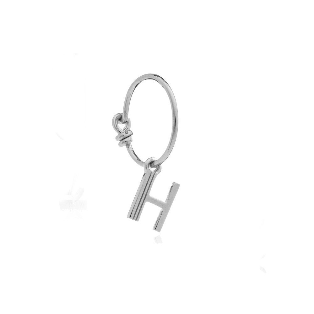 This is Me Silver Mini Hoop Earring - Letter H