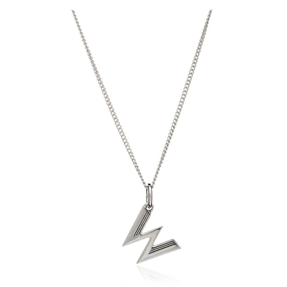 This Is Me 'W' Alphabet Necklace - Silver