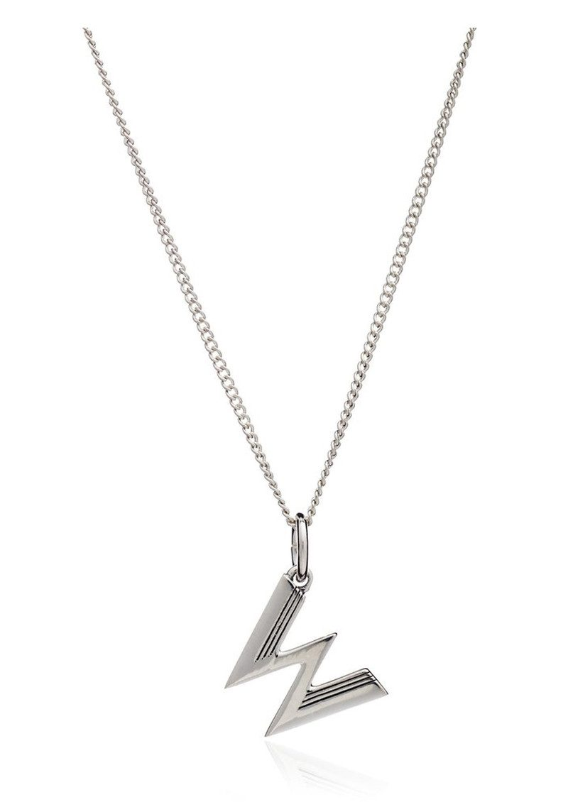 This Is Me 'W' Alphabet Necklace - Silver main image