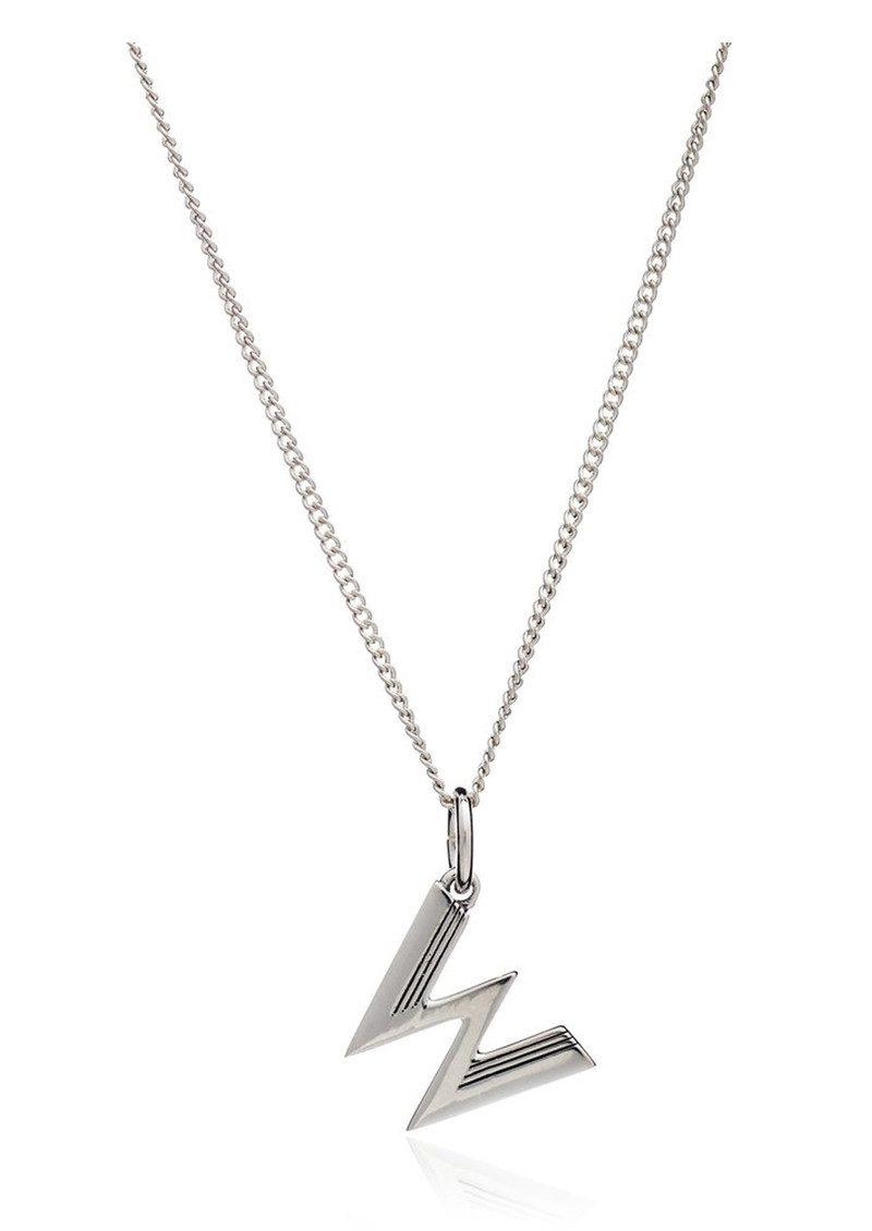 RACHEL JACKSON This Is Me 'W' Alphabet Necklace - Silver main image