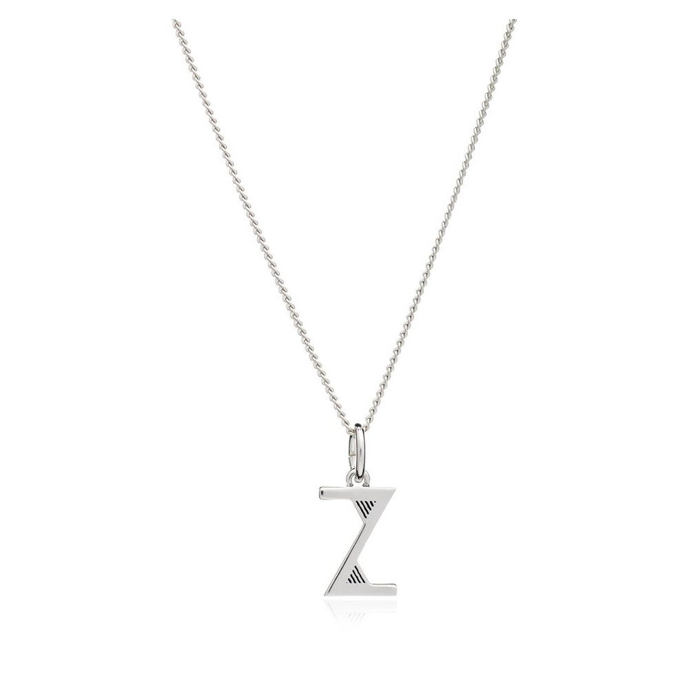 This Is Me 'Z' Alphabet Necklace - Silver