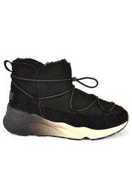 Ash Mitsouko Shearling Boots - Black
