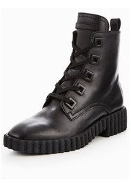 Jada Leather Boots - Black
