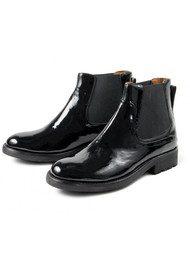 Hudson London Carter Patent Boot - Black