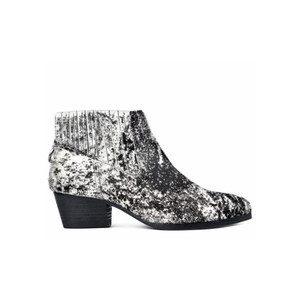 Ernest Pony Monochrome Boot - Black