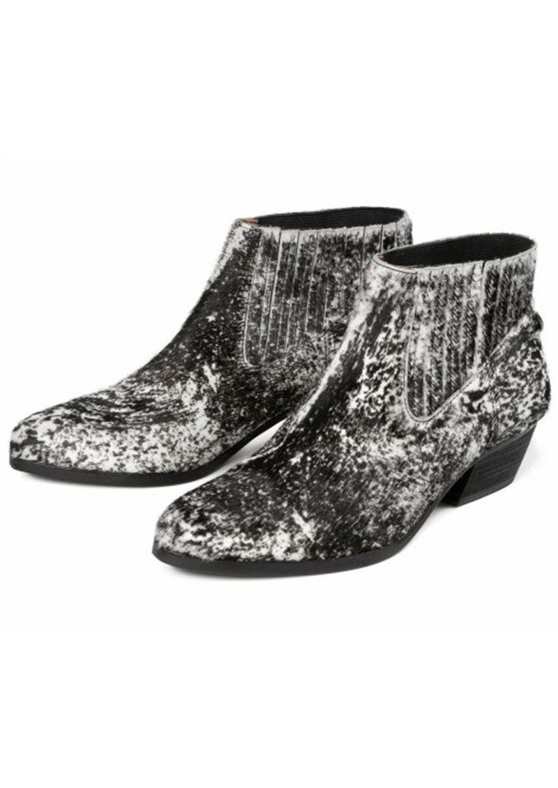 Hudson London Ernest Pony Monochrome Boot - Black main image