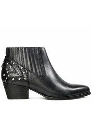 Hudson London Ernest Studded Leather Boot - Black