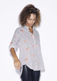 Rails Taylor Shirt - Florence Stripe with Flowers