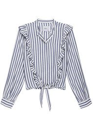 Rails Piper Shirt - Ocean White Stripe