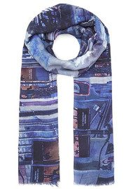 Lily and Lionel Pandora Printed Scarf - Blue