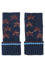 Becksondergaard Ember Lurex Star Gloves - Classic Navy