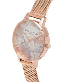 Olivia Burton Abstract Florals Mesh Watch - Rose Gold