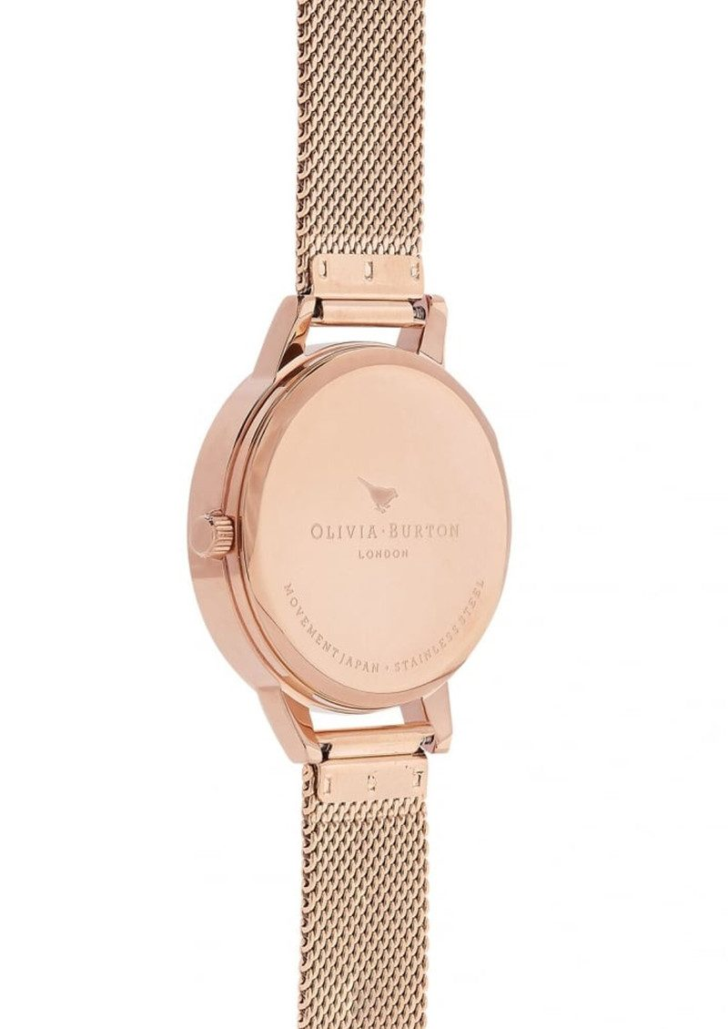 Olivia Burton Abstract Florals Mesh Watch - Rose Gold main image