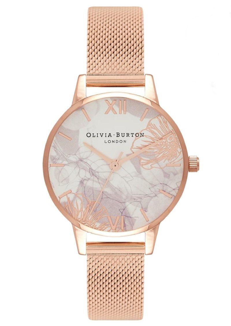 016dcf2d35e4 Olivia Burton Abstract Florals Mesh Watch - Rose Gold