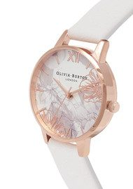 Olivia Burton Abstract Florals Midi Watch - Blush & Rose Gold