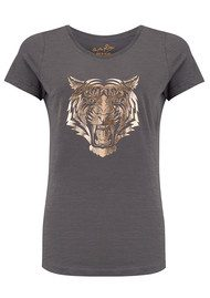 ON THE RISE Lion Tee - Grey & Rose Gold