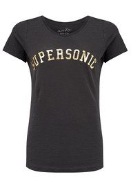 ON THE RISE Supersonic Tee - Black & Gold