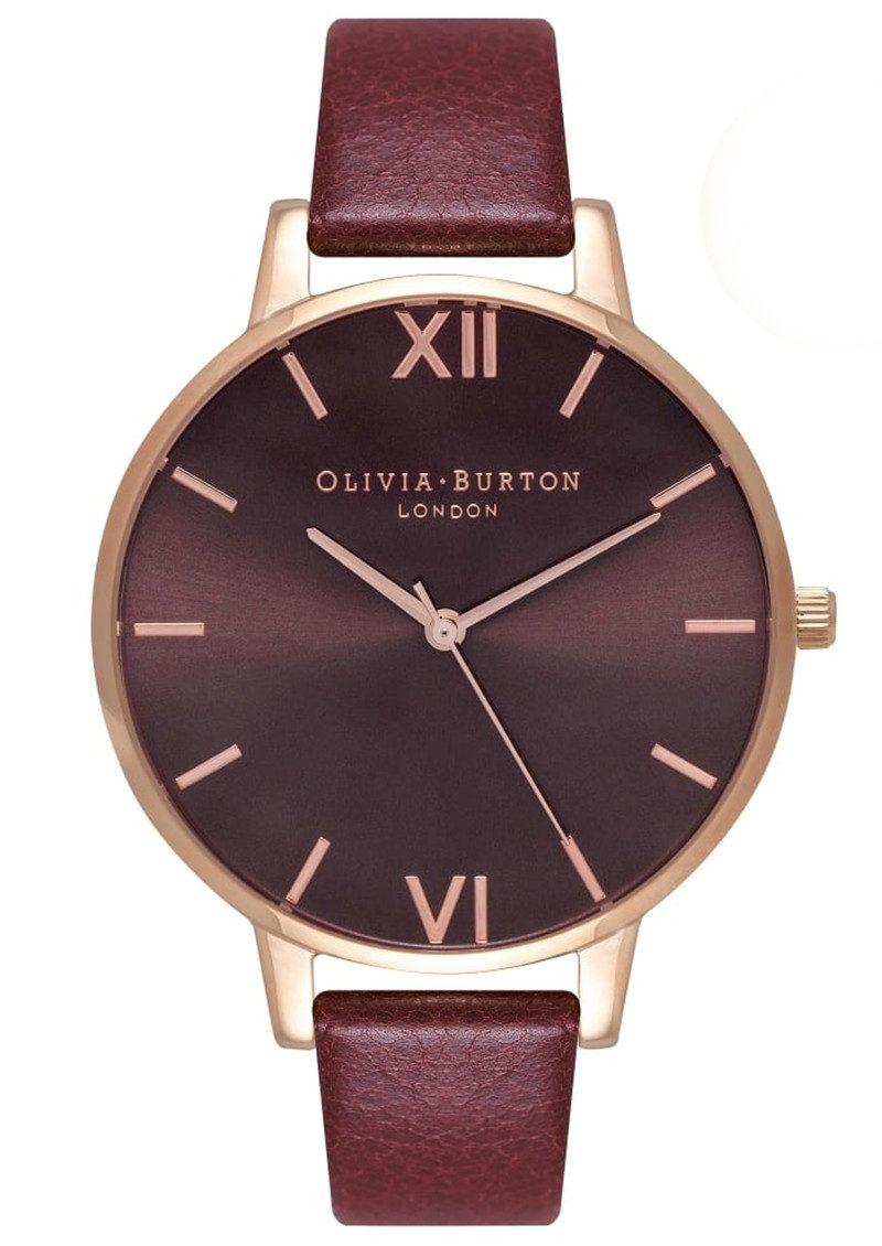 Olivia Burton Big Dial Chocolate Dial Watch Burgundy