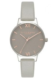 Olivia Burton Midi Grey Dial Watch - Grey, Rose Gold & Silver
