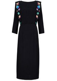 RIXO London Elizabeth Embroidery Dress - Black