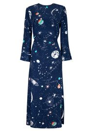 RIXO London Sheena Printed Dress - Cosmic Constellation