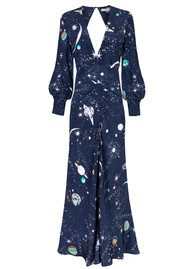 RIXO London Pre Order Maressa Printed Dress - Cosmic Constellation